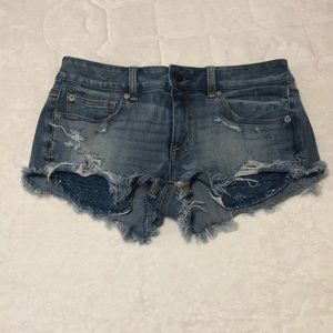 American Eagle- shortie jeans shorts size 6